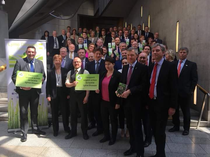 MSPs showing support for urgent action to tackle Lyme disease