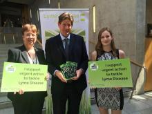 Alexander Burnett MSP with Lyme patients